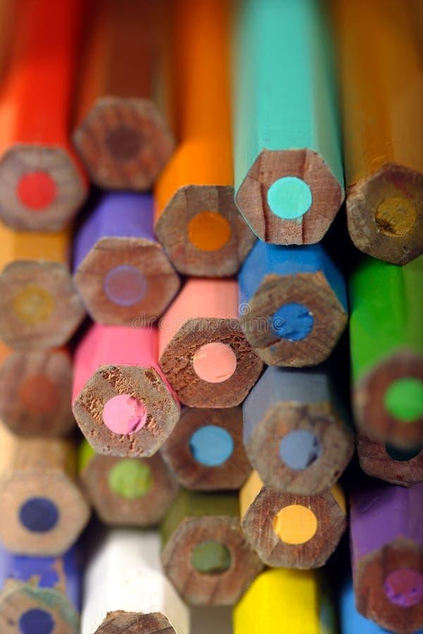 расцветка кончает карандаш стоковое изображение rf