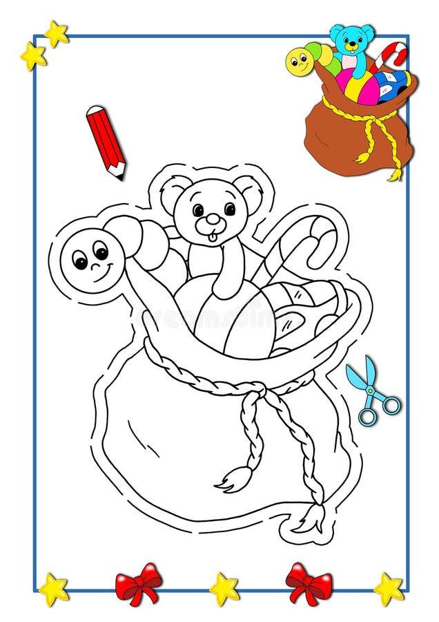 расцветка рождества 10 книг иллюстрация вектора