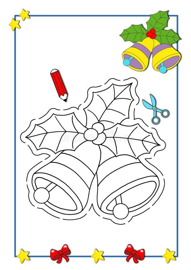 расцветка рождества 5 книг иллюстрация штока