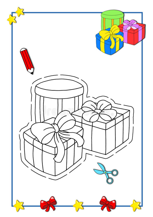 расцветка рождества 8 книг иллюстрация вектора