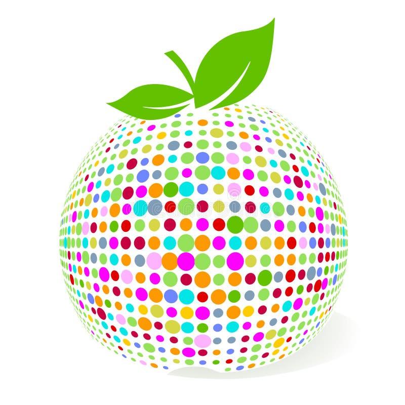 расцветка яблока иллюстрация штока