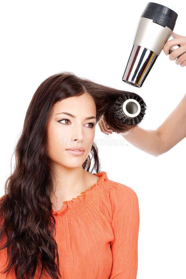 расчесывать сухие волос стоковые изображения