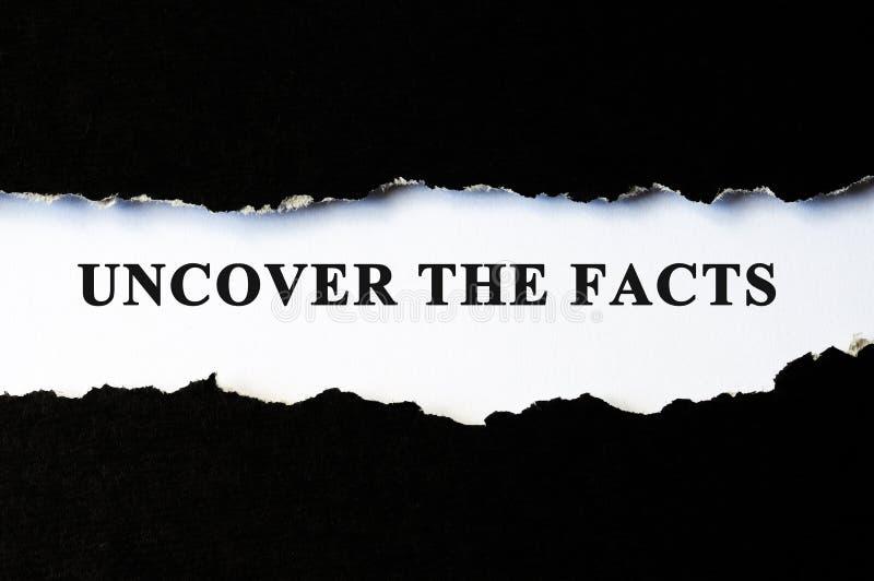 Расчехлите концепцию фактов стоковые фото