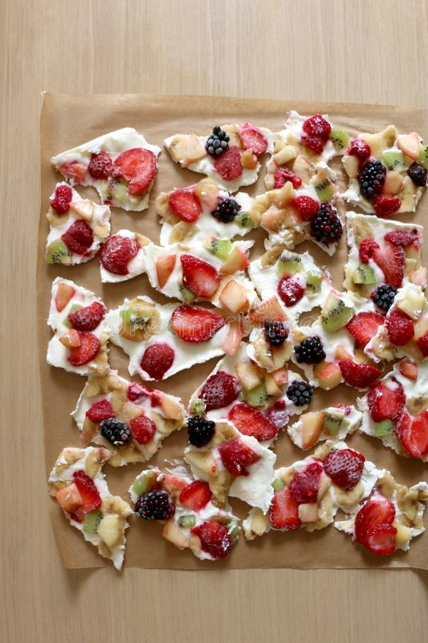 Расшива замороженного йогурта стоковые изображения rf