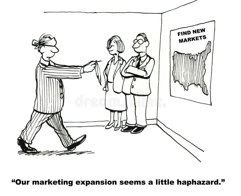 Расширение маркетинга иллюстрация вектора