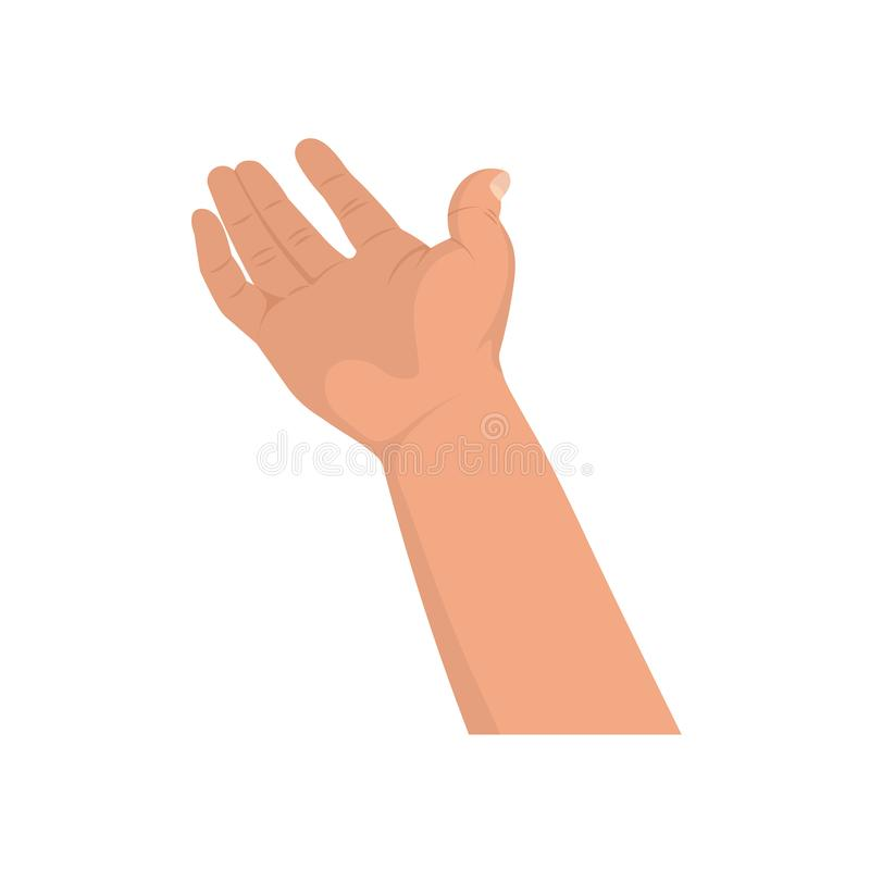 Расширенная рука бесплатная иллюстрация