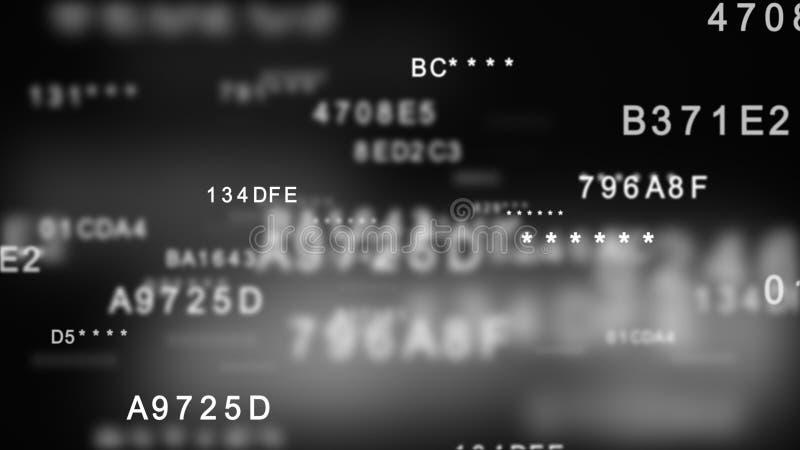 Расшифровывать шифровать концепция безопасностью шестнадцатиричных данных цифровая бесплатная иллюстрация