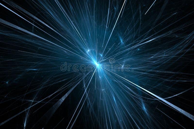 Расщепление частицы в большом коллайдере адрона иллюстрация вектора