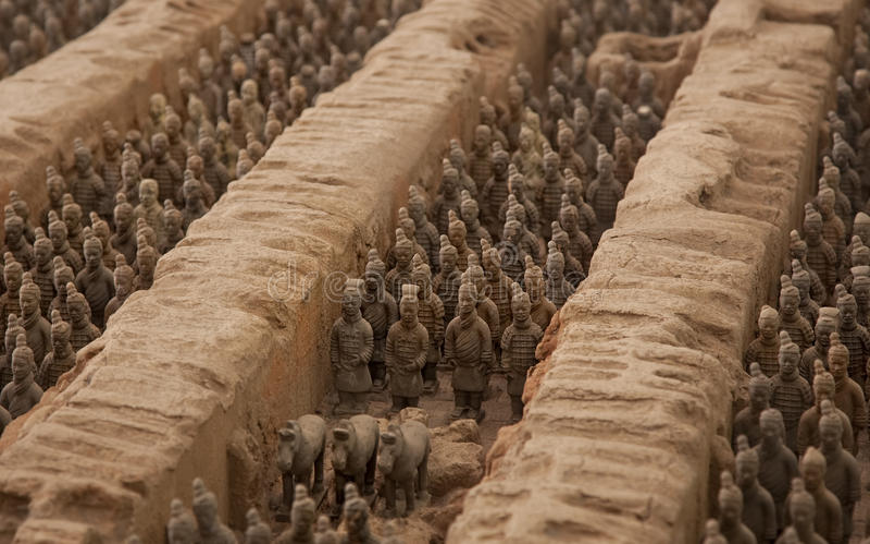 ратники terracotta стоковое изображение rf