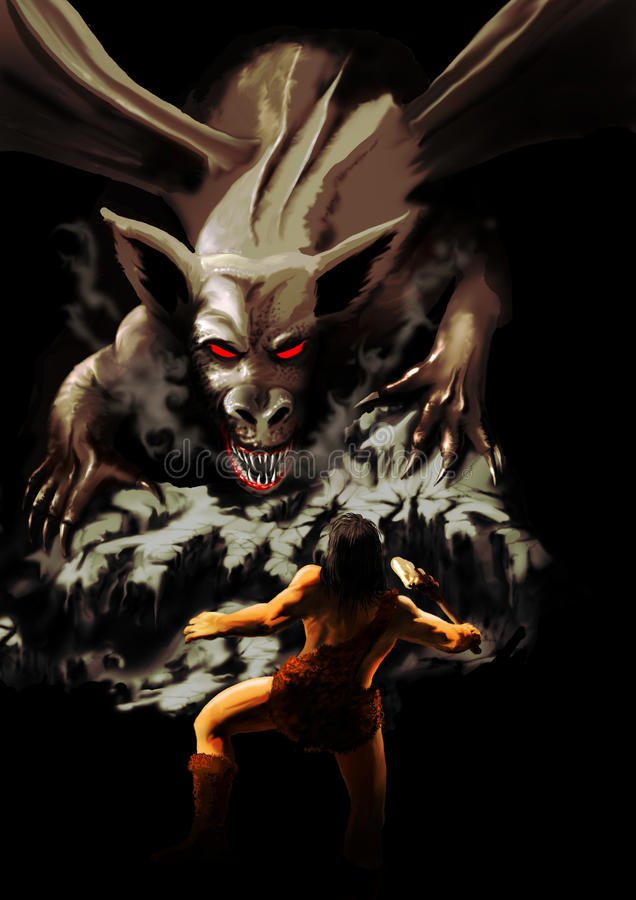 ратник дракона иллюстрация штока