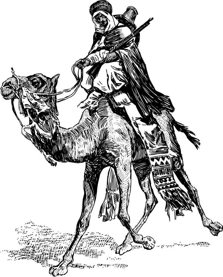 Ратник на верблюде иллюстрация штока