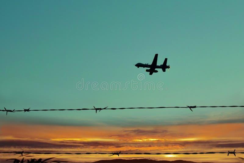 ратник неба патруля воздушных судн стоковая фотография