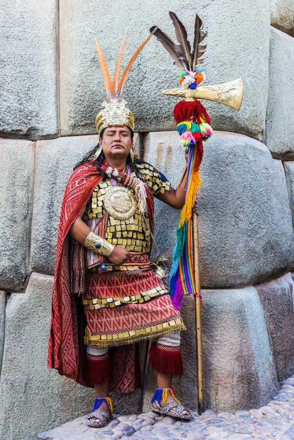 Ратник перуанские Анды Cuzco Перу Inca человека стоковые изображения rf