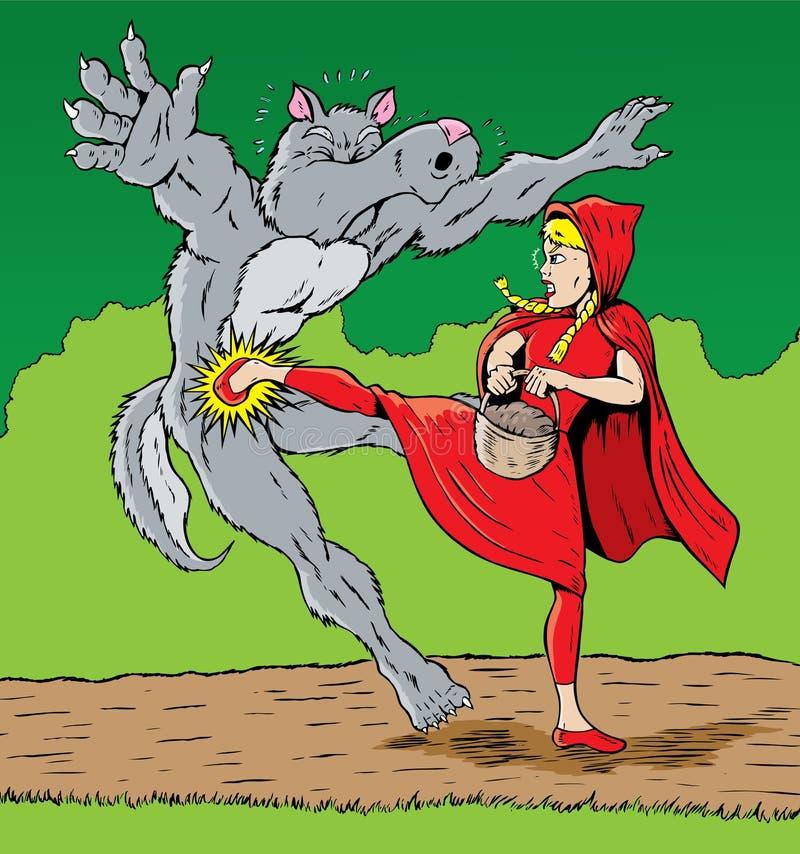 ратник riding клобука бесплатная иллюстрация