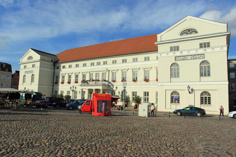 Ратуша в Wismar стоковые фотографии rf