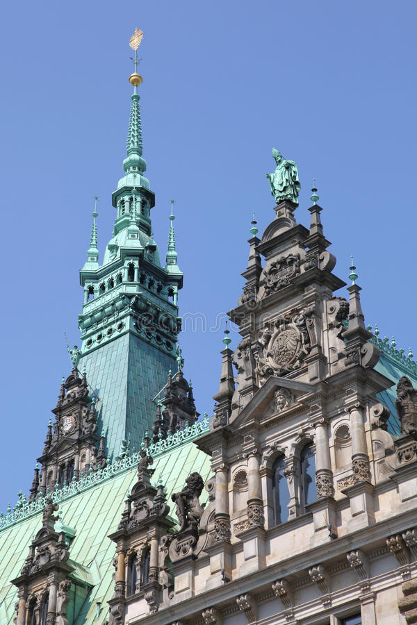Ратуша Гамбурга стоковое фото