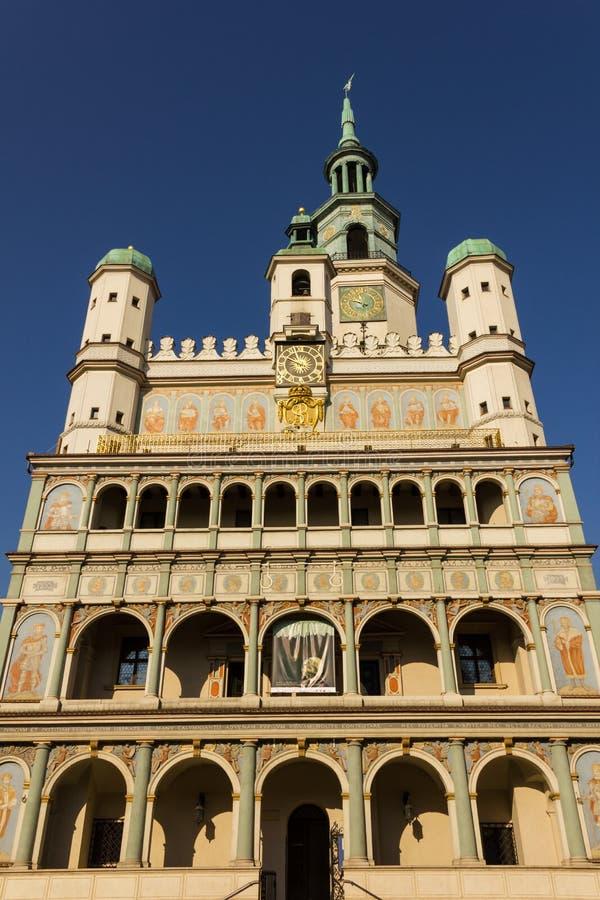 Ратуша. Фасад. Poznan. Польша стоковое фото