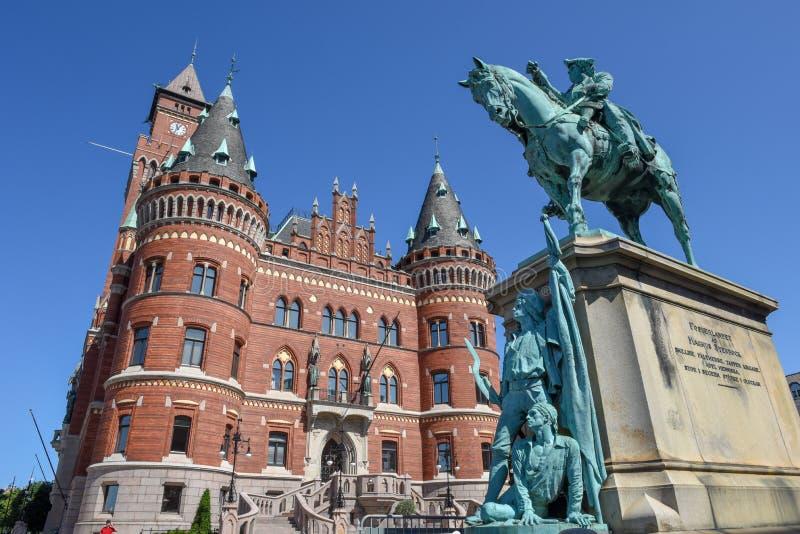 Ратуша Хельсингборга на Швеции стоковое изображение rf