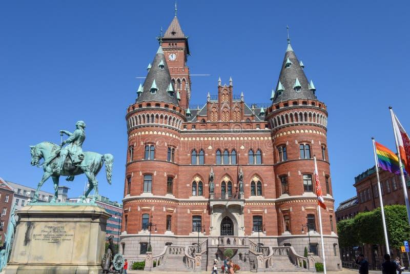 Ратуша Хельсингборга на Швеции стоковое фото rf