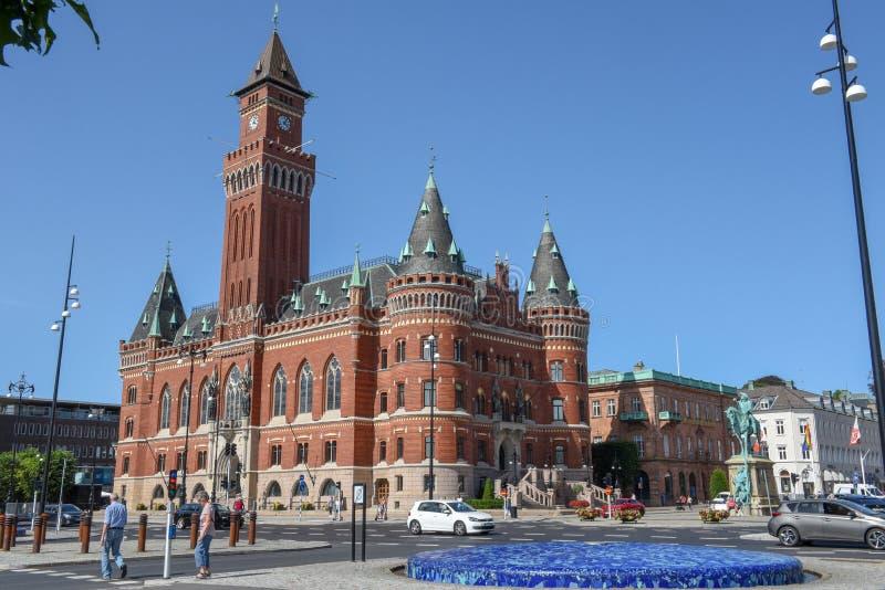Ратуша Хельсингборга на Швеции стоковая фотография