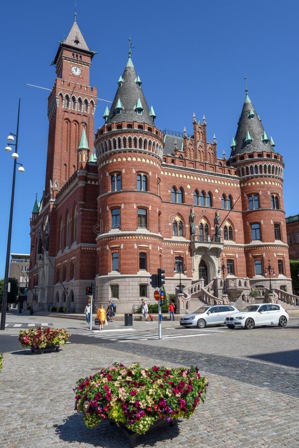 Ратуша Хельсингборга на Швеции стоковое фото