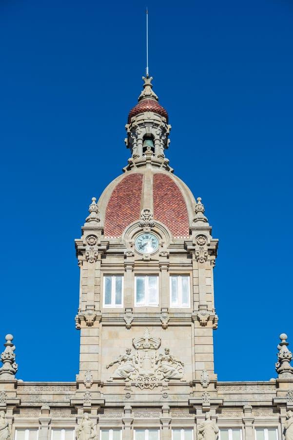 Ратуша Coruna стоковое изображение