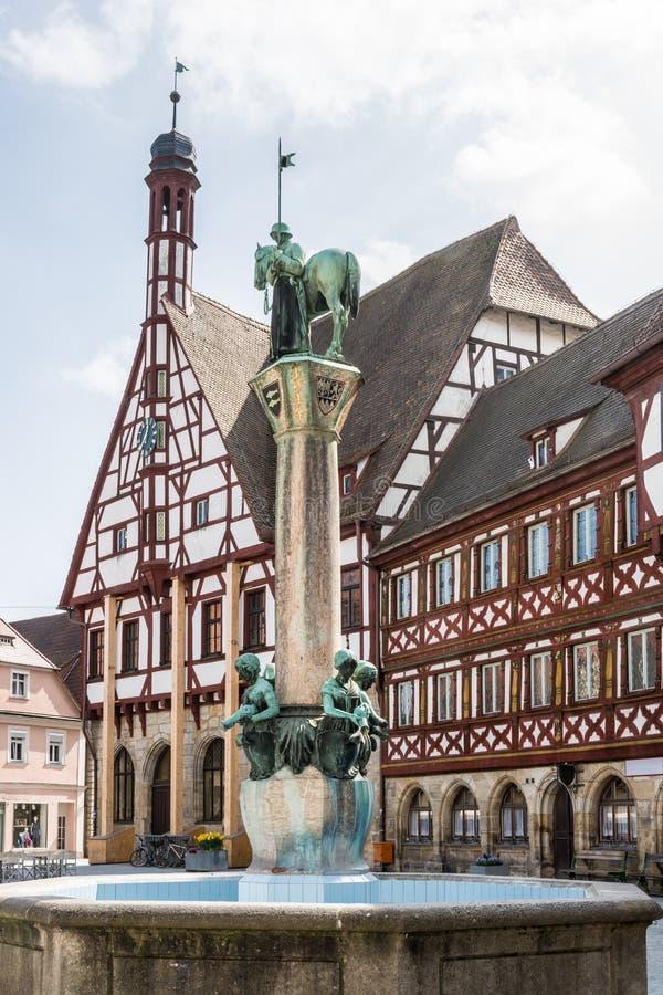 Ратуша Forchheim стоковые изображения rf