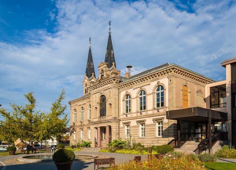 Ратуша Illkirch-Graffenstaden - Эльзаса, Франции стоковое фото