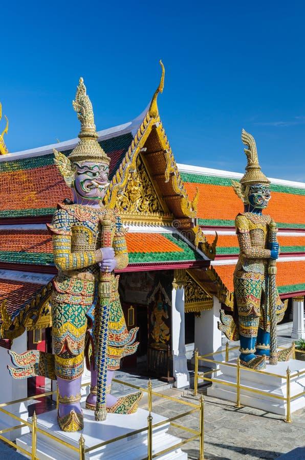 Радетель Gaint на Wat Phra Kaew, виске изумрудного Будды стоковая фотография