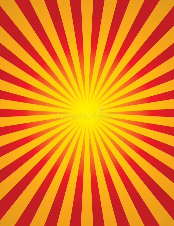 Радиальное разрыванное Солнце (разрыванная звезда) иллюстрация штока