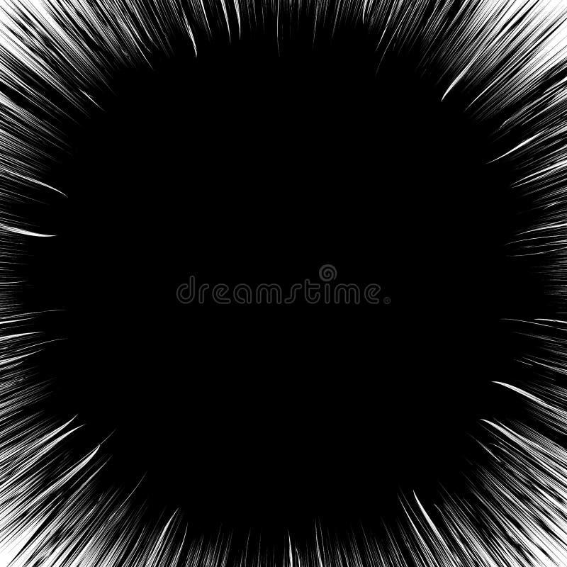 Радиальные линии лучи, иллюстрация лучей абстрактная Излучать случайный иллюстрация вектора