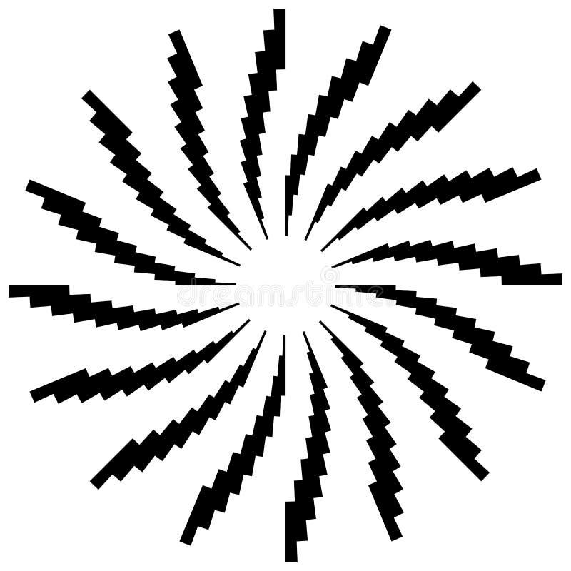 Download Радиальный круговой элемент Геометрические круги прямоугольников Иллюстрация вектора - иллюстрации насчитывающей центробежка, лучи: 81813642