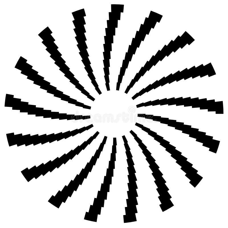 Download Радиальный круговой элемент Геометрические круги прямоугольников Иллюстрация вектора - иллюстрации насчитывающей сходиться, радиально: 81813647