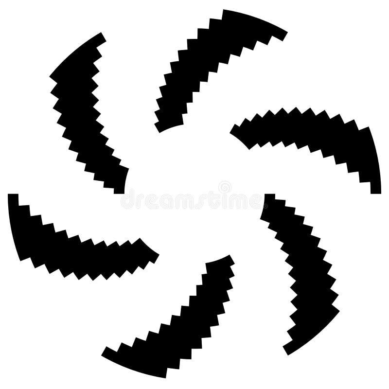 Download Радиальный круговой элемент Геометрические круги прямоугольников Иллюстрация вектора - иллюстрации насчитывающей конструкция, геометрия: 81813649