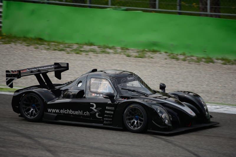 Радикальное испытание автомобиля RXC V8 на Монце стоковые изображения rf