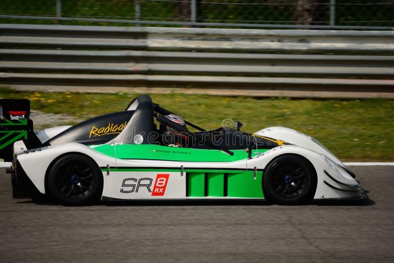 Радикальное испытание автомобиля SR8 RX на Монце стоковая фотография rf