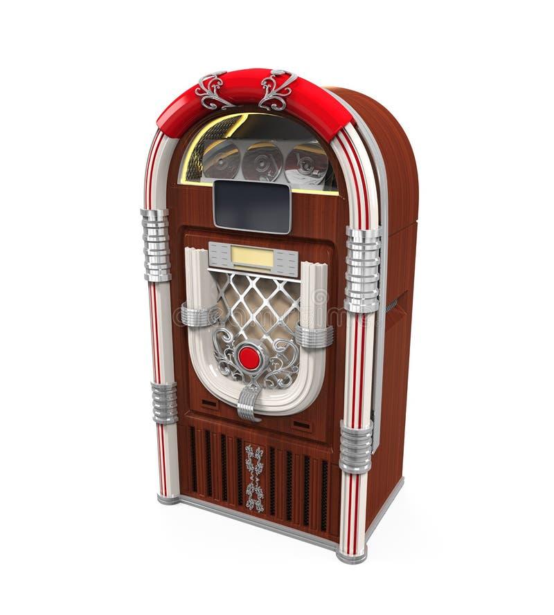 Радио музыкального автомата иллюстрация штока