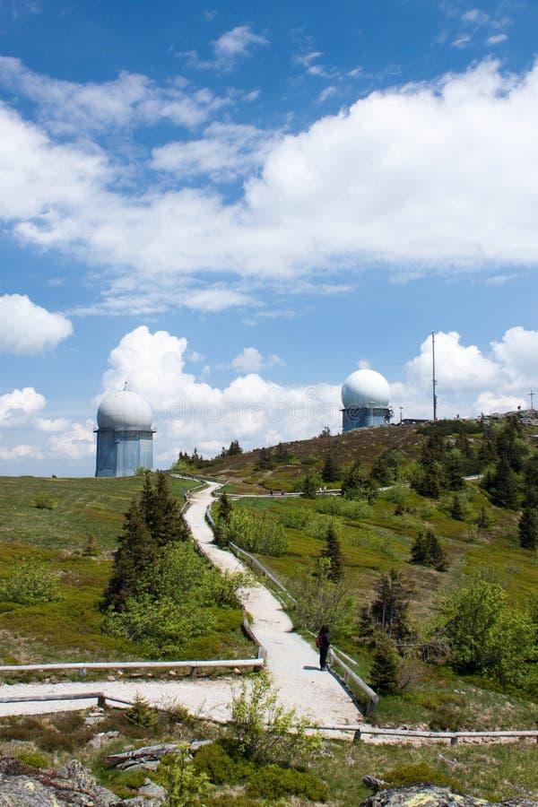 Радиолокационная станция на более большом Arber стоковая фотография rf