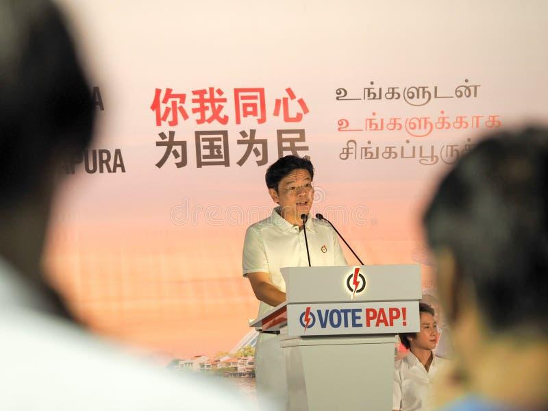 Ралли всеобщих выборов Сингапура 2015 - г-н Лоренс Wong стоковая фотография rf