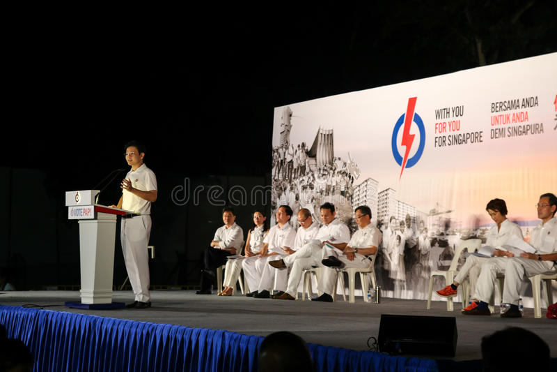 Ралли 2015 ПЮРЕ всеобщих выборов Сингапура стоковые фотографии rf