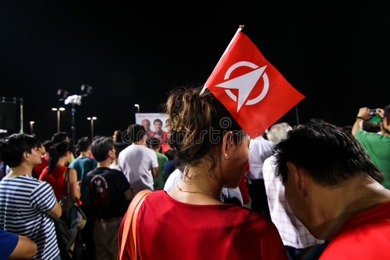 Ралли 2015 SDP всеобщих выборов Сингапура стоковые фотографии rf