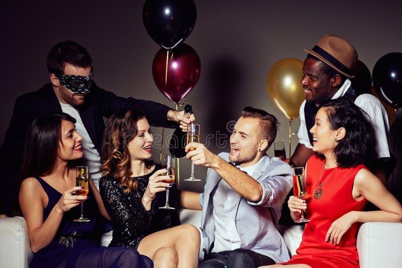 Радостная домашняя партия стоковая фотография
