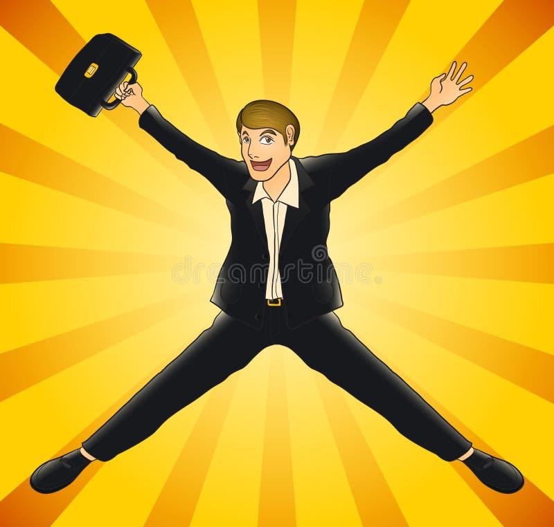 Радостный бизнесмен бесплатная иллюстрация