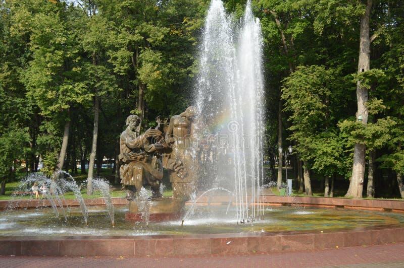 Радуга в фонтане, Kronshtadt стоковая фотография
