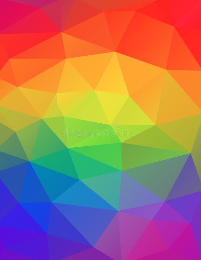 Радуга красит абстрактную геометрическую иллюстрацию предпосылки иллюстрация штока