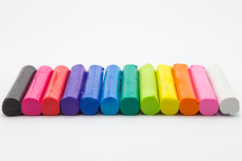 Радуга цветов глины, творческий продукт искусства ремесла стоковые изображения rf