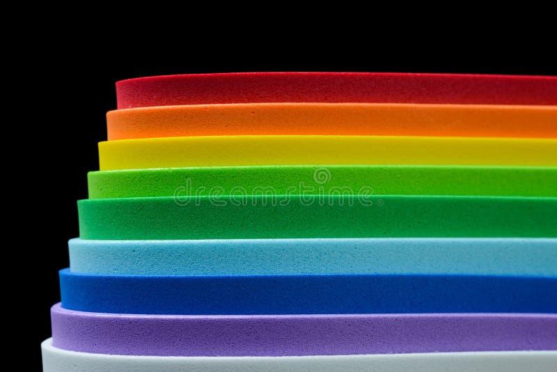 Радужные цвета клетчатой резины стоковое фото