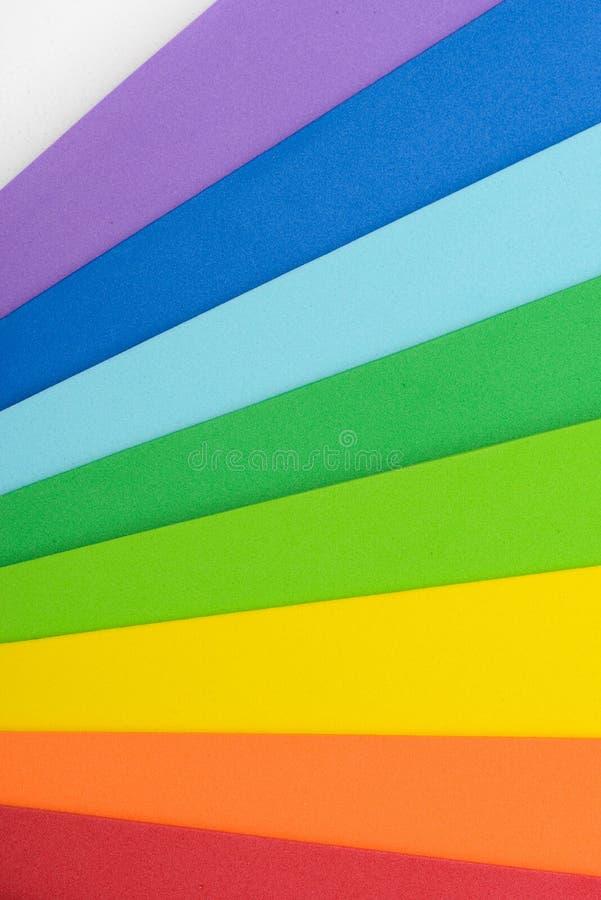Радужные цвета клетчатой резины стоковое изображение rf