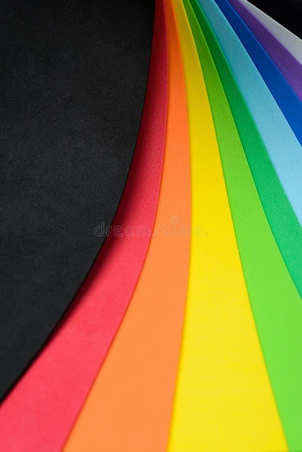 Радужные цвета клетчатой резины стоковая фотография rf