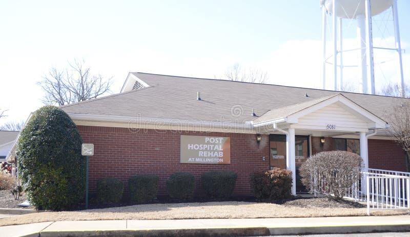 Реабилитация больницы столба на здравоохранении Millington стоковые изображения rf